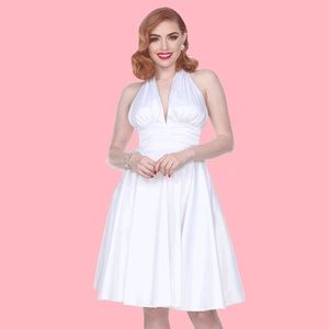 "🌺 Bettie Page ""Some Like it Hot"" Dress in White"